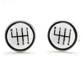 Gear Shift Cufflinks - Gear Shift Knob Cufflinks - Gift for Men - Suit Accessories - Birthday Gift for Guys - Cool and Unique Gifts for Men