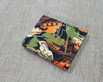 Kids Cash Envelope Wallet, Cash Budget Wallet -Tank Olive Orange- for use with the Dave Ramsey System