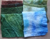 Hand dyed pre felt stack of 8 ass pieces -  PF-stack-10