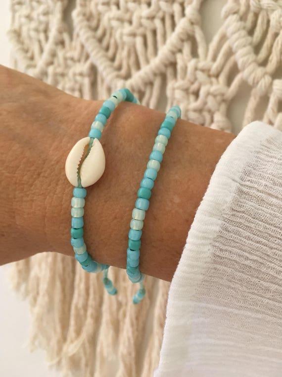beach bracelets, boho jewelry, gift for her