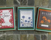Vintage Florals - set of 6 note cards - for any occasion