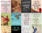 Disney, Quotes, #2-1, Planner Stickers, Tinkerbell, Up, Finding Nemo, Stitch, Pixar, Turtle, Snow White, Cat, ECLP, Plum Paper Planner