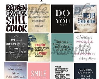 Quotes, #3-1, Planner Stickers, Motivation, Inspiration, Smile, Love, Happiness, Family, Life, Smile, ECLP. Plum Paper Planner