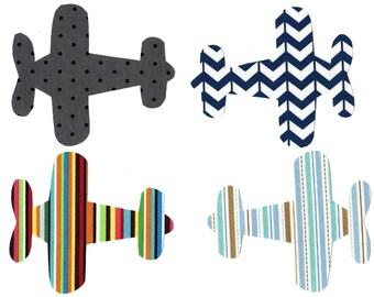 4 Airplanes iron on fabric applique DIY