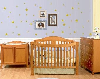 Gold wall decals stars Peel And Stick Wall Decals Set - nursery decor - wall sticker - home decor - wall decor- wall art-