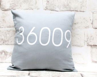 Zip Code Pillow Cover, 16x16