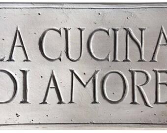 Cucina Italian Kitchen Decor Sign