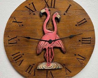 Flamingo Decor wall clock