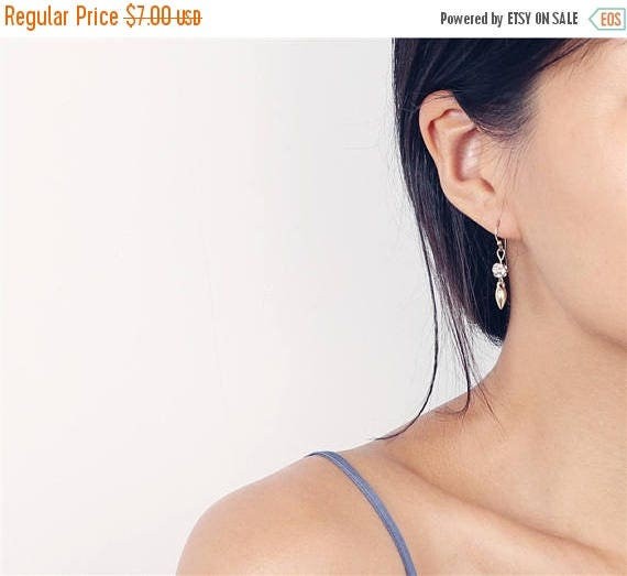 ON SALE Delicate simple everyday renegade mini drop earrings