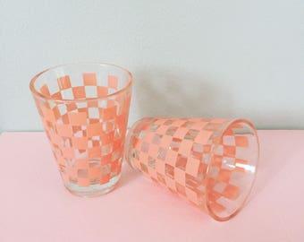 Pastle Pink Retro Shot Glasses