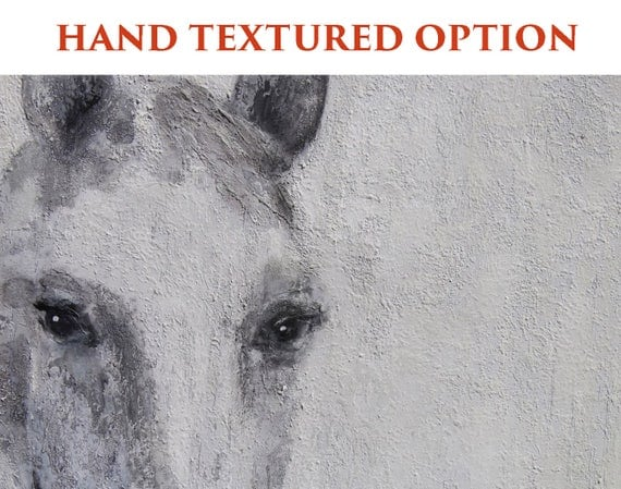 """Gorgeous Dapple Horse. Extra Large Horse, Horse Wall Decor, Gray Rustic Horse, Large Contemporary Canvas Art Print up to 72"""" by Irena Orlov"""