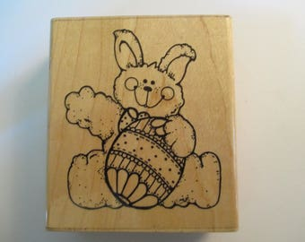 Rubber Stamps Easter Bunny Rabbit stamp For scrapbooking  new good condition
