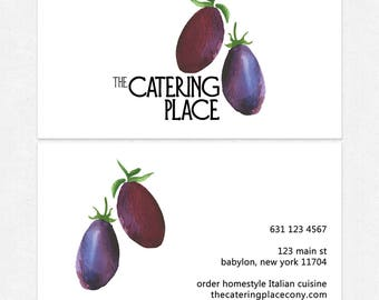 nutritionist dietitian business cards - thick, glossy or matte - color both sides - FREE UPS ground shipping