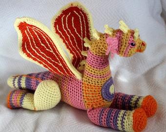 Spirit of the 80s Scrap Dragon Crochet Amigurumi