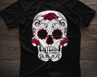 Arkansas Razorbacks Sugar Skull CUTTING FILE for Silhouette, Cricut, or other cutters