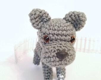 Pit Bull Stuffed Animal, Pitbull Stuffed Dog, Puppy Stuffed Animal, Crochet Toy Dog.