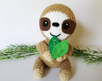 Sloth Stuffed Animal. Baby Sloth Stuffed Animal. Plush Sloth Toy. Cute Sloth Toy.