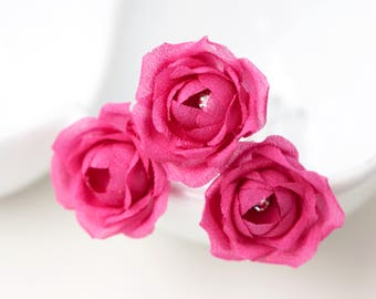 719_ Bridesmaid flowers hair pin, Pink flowers hair pin, Bridesmaid gift, Bridesmaid flowers, Flower bridesmaid hair accessory, Silk flowers