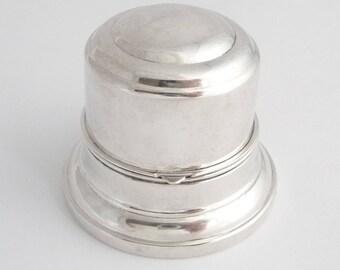 Antique 1920s Birks Sterling Silver Ring Box Vintage Wedding Ring Box Holder