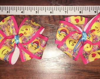 Two very cute hairbows.