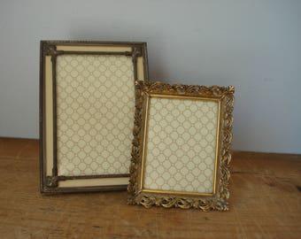Vintage Picture Frames/Ornate Picture Frame/Metal Picture Frame/Gold Picture Frame