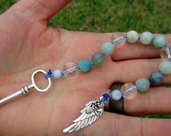Frigga Mini Prayer Strand - Pocket prayer beads, travel prayer beads, pagan prayer beads - Norse Allmother, Wife of Odin & Queen of Asgard