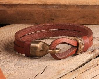FAST SHIPPING Men Leather Bracelet, Men Bracelet, Leather Bracelet, Brown Leather Bracelet, Bracelet for Men, Cuff Men Bracelet,Gift for Him