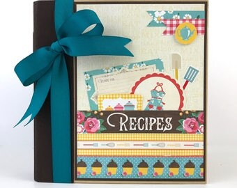 Recipe Album Kit or Premade Scrapbook Mini Album Pre cut with Instructions