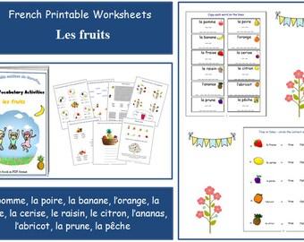 FRENCH NUMBER WORKSHEETS / Number Download / Number Printable