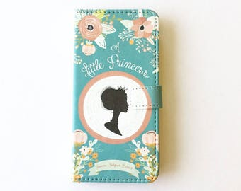 Book phone /iPhone flip Wallet case- A Little Princess  iPhone X, 8, 7, 6, 5, 6 7 & 8 plus, Samsung Galaxy S8 S7 S6, S5 Note 4 5 7 8 LG