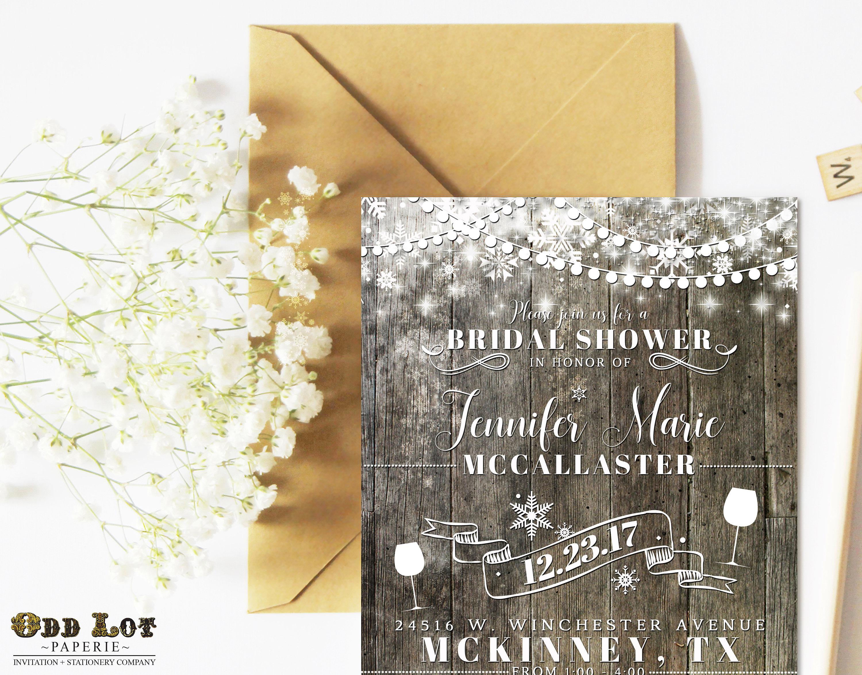Christmas bridal shower snowflake invitation wine themed bridal christmas bridal shower snowflake invitation wine themed bridal shower invitation vineyard bridal shower filmwisefo Image collections