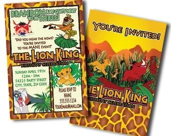 Lion King Birthday Invitations, Lion King Invitation, Lion King Invites, Birthday Invitations, Birthday Invitation, Invitations