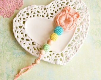 Neutral teething toy - bear - crochet theether - PROMO PRICE!