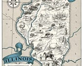 Custom Listing For gardengrlkaren - Vintage Illinois and Michigan Maps - XL files