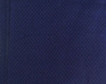 Wool Fabric / Blue Wool Fabric / Cobalt Blue Wool / Wool Yardage / Blue Stretch Wool Fabric / Blue Wool Blend Fabric / Blue and Black Wool