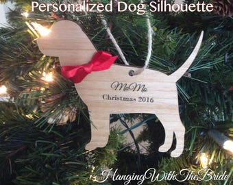 Personalized Christmas Pet Ornament, Christmas Ornament, Dog Ornament, Personalized Dog Ornament, Dog Lover, Engraved Pet Ornament