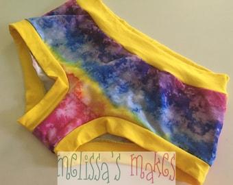 M Rainbow Smoke - Underwear - Scrundies - Womens Underwear - Womens Panties - Boy Short Panties - Boy Shorts - Womens Undies - Size Medium