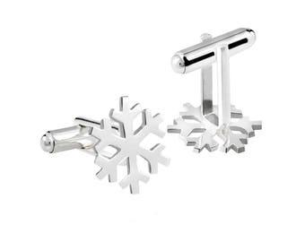 SNOWFLAKE handmade sterling silver cufflinks