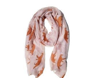 Fox soft scarf.