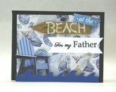 Happy Father's day at the beach leader, coach, friend, counselor, biggest fan, waves, bottle of sand, Adirondack chair