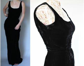 1960s Saks Fifth Avenue Dress Little Black Dress Audrey Hepburn Dress Black Velvet Dress Women Sexy Low Back 60s Evening Gown LBD Saks 5th