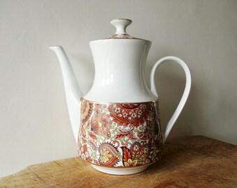 Vintage french porcelain coffee pot, 1980 1980s, Toupet porcelaine, Cafetière, Théière ancienne, France, Home decor, Kitchen