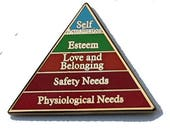 Maslow's hierarchy pin Maslow's hierarchy of needs enamel pin