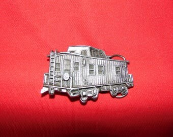 One (1), 1979 Railroad Caboose,  Belt Buckle, by The Great American Buckle Co., of Chicago. Circa 1979.