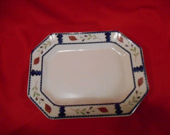 "One (1), 11"", Oval Serving Platter, from Adams China, of England, in the Lancaster Pattern."