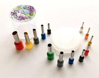 13 Cutters, 8 Circles & 5 Oval Micro Clay Cutters in Container. Polymer Clay Jewelry Small Polymer clay Dotting tools Tiny Mini texture clay