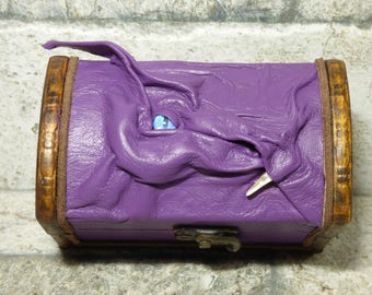 Dragon Desk Organizer Trinket Dice Box Stash Purple Leather Game Of Thrones MTG Dungeons And Dragons Harry Potter Labyrinth 26