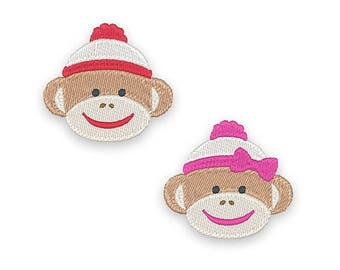 25% OFF Mini Sock Monkey Embroidery Design Set - Instant Download