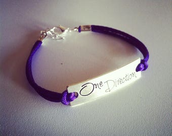 Bracelet One Direction 1 d purple cord