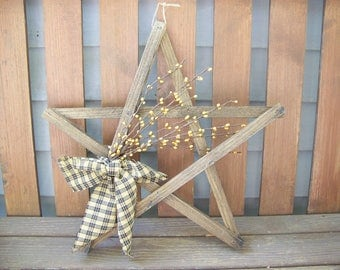 Lathe Star Primitive Decor In Fall Colors